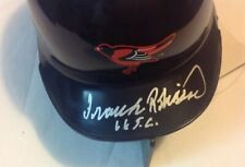 FRANK ROBINSON signed auto 66 TC Mini Helmet size Baltimore Orioles