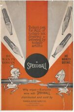 1920s Speedball Fountain Pen Nibs Ink Illustrated Brochure