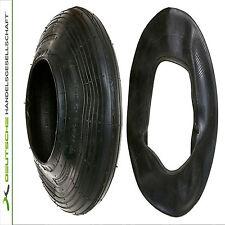 Reifen und Schlauch im Set Neu 400x100 4,80 4,00 - 8 mit Ventil TR 13 Rille 2PR