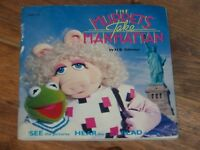 Vintage children's Book & Record ~ MUPPETS Take Manhattan