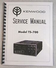 """Kenwood Ts-700 Service Manual: w/11""""X17"""" Color Schematic & Card Stock Covers"""
