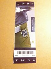 2019 Notre Dame Fighting Irish vs Navy Football Ticket Stub