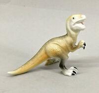 9943330 Porzellan Figur Dino-Saurier Raptor bunt Gräfenthal 8x12cm
