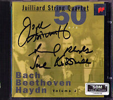 JUILLIARD STRING QUARTET Signed Bach Beethoven Haydn CD Streichquartett Quartett