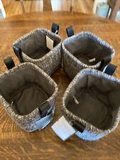 Threshold Fabric Storage basket Bin Size 7x6x5 Storage Lot of 4