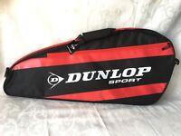 Dunlop D Tac Tennis 3 Racket Bag Black Red R281