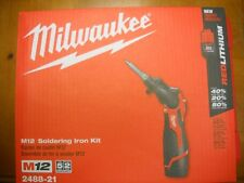 Milwaukee 2488-21 M12 Soldering Iron Kit Cordless Lithium Ion NEW