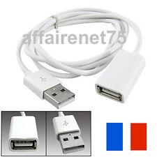 Câble Cordon 1m Blanc PVC Métal USB 2.0 Mâle à Femelle Extension Adaptateur