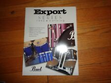 Pearl Drums Export Series Catalog 1992