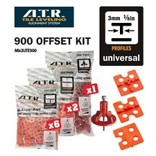 ATR TILE LEVELING SYSTEM Universal 3mm Tee KIT Qty 900 PIECES