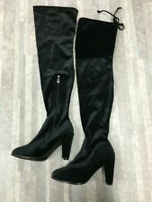 Catherine Malandrino Women's Velva Tall Over the Knee Boots Color Black Size: 8