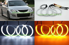 WH&YE Halo Rings Angel Eyes For MAZDA 3 MPS MAZDASPEED3 Axela Cotton Dual Color