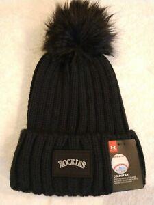 Under Armour Coldgear Women's Colorado Rockies Knit Beanie Hat Black 1325967 NEW