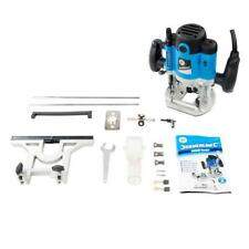 "Plunge Router 1500W 1/2"" Multipurpose Electric 240V Silverstorm 0-50mm Fine"
