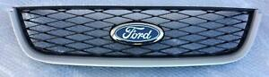 Ford Territory SX SY1 Turbo top radiator GRILLE bar mesh - SILVER mould surround