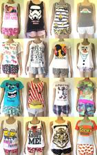 Women's Shorts & Cami Pyjamas Set Pixar Disney Mulan Lion King Primark Pjs
