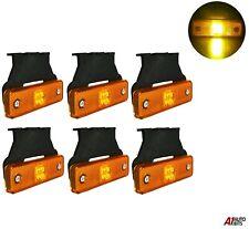 6 Pcs Orange Amber 4 Led 12v Side Marker Lights Indicator Truck Lorry Trailer