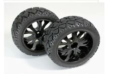 RC Wheel & Tyre Set 1:10 Scale 1/10th Buggy Wheels On Road Black Quantity 2