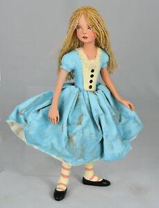 Nancy Wiley Alice in Wonderland Handpainted Cast Resin Artist Doll LE 200