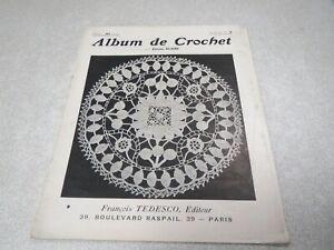 CA4 ALBUM DE CROCHET COUSINE CLAIRE ALBUM N° 4 FRANCOIS TESDESCO