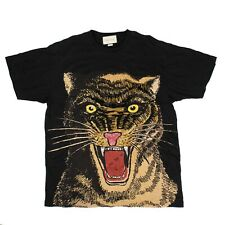 NEW GUCCI Black Cotton Tiger Embroidered Design Over-Sized T-Shirt Size XL $1500