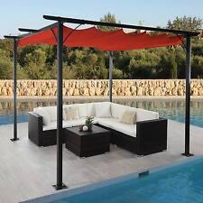 Pergola Avila, pavillon de jardin, toit ouvrant ~ 3x3m terre cuite