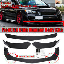 3pcs Carbon Fiber Look Front Bumper Lip Spoiler For Subaru Impreza 2012-2019