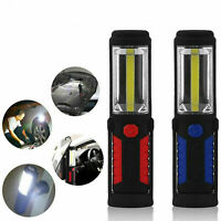 COB LED Work Light Lamp Magnetic Flashlight Torch With Hook