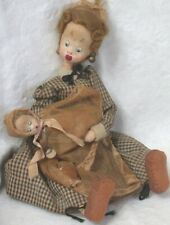 Vintage Klumpe Nanny with Baby Doll  Spain w Original Label