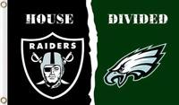 Oakland Raiders Philadelphia Eagles House Divided Flag 3ft x 5ft NFL Banner