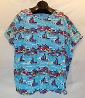 Colorful Sailing Print ONLY NECESSITIES Women's Size 4X Tee Shirt Blouse Top