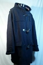 Racing Green Coat Black Hooded Wool Blend Toggle Front Men's Size XL