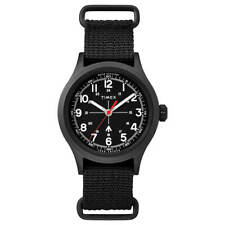 Reloj de Cuarzo Reloj Timex Hombre militar Todd Snyder Dial Negro Correa de Nylon TW2R78600JR