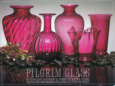 Pilgrim Glass mouthblown cranberry & other collectible colors