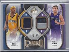 BENO UDRIH JAMAAL TINSLEY 2009-10 SP GAME USED COMBO DUAL LOGO TAG PATCH #D 2/99
