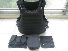 Black colour tactical bullet proof vest IIIA NIJ0101.06 Size:M