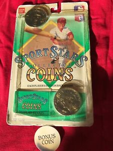 BRAND NEW •1990 SPORTS STARS COLLECTORS COINS • TIM RAINES • DON MATTINGLY •