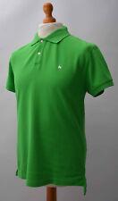 Men's Green Money Short Sleeved Polo Shirt Size M, Medium.