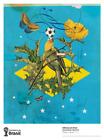 World Cup Brazil Art soccer 2014 Poster Print Eduardo Recife Made in Brazil RARE