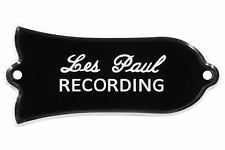 "Engraved ""Les Paul RECORDING"" Truss Rod Cover for Gibson Guitars 2ply B/W"