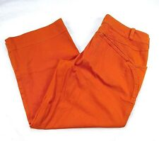 Patagonia Water Girl Capris Womens Size 10 Orange Organic Cotton Cropped C25