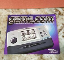 Tiger Game.com Game Dot Com Instruction Manual Booklet for system console, MINT!
