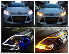 2 x 60cm LED Audi Type Flexible Strip DRL Dual -White & Amber For SX4 S Cross