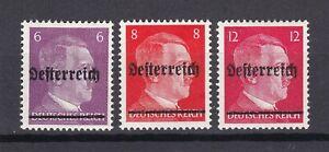 Austria - Niederost. - 1945 - drei Werte - Gepr. - Ungebr.