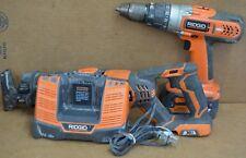 Ridgid R8411503 1/2 inch Drill Driver R8641 Reciprocating Saw Combo Set