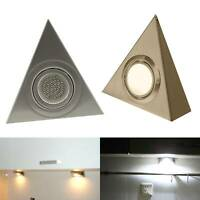 LED Mains Kitchen Under Cabinet Cupboard Triangle Light Kit Cool Warm White