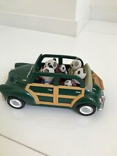 Calico Critters Convertible Green Coupe Car and Wilder Panda Bear Family