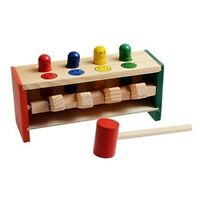 Children's Toddlers Educational Toy Wooden Game Hammering Bench Hammer T1E4
