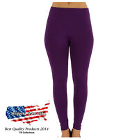 Women's Solid New Winter Thick Warm Fleece Lined Thermal Stretchy Leggings Pants