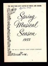 GUYS & DOLLS New York City Center of Music & Drama- Spring Musical Season 1955